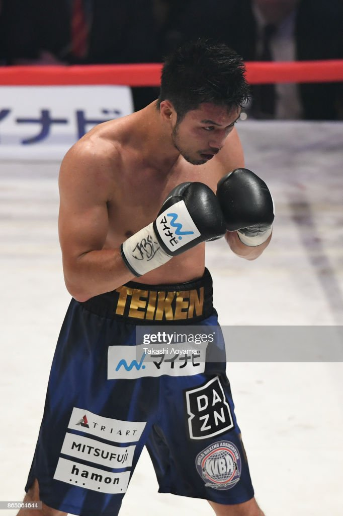 Ryota Murata of Japan looks on during the WBA Middleweight Title Bout at Ryogoku Kokugikan on October 22, 2017 in Tokyo, Japan.