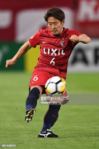 Ryota Nagaki of Kashima Antlers in action during the AFC Champions League Group H match between Kashima Antlers and Sydney FC at Kashima Soccer...