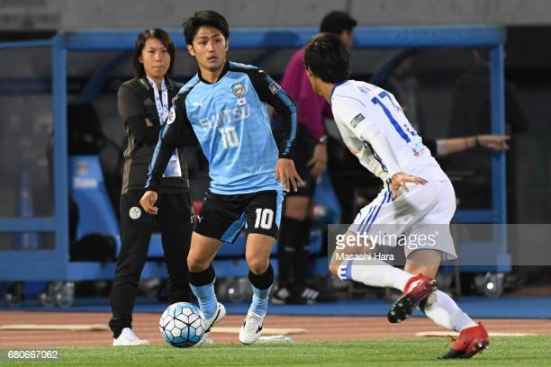 Ryota Oshima of Kawasaki Frontale in action during the AFC Champions League Group G match between Kawasaki Frontale and Eastern SC at Kawasaki...
