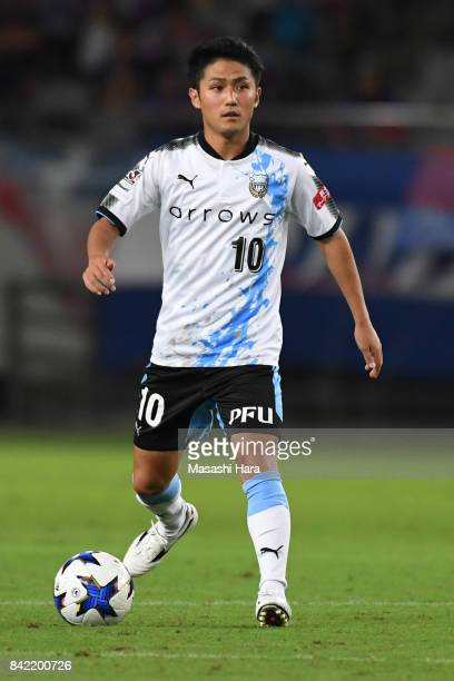 Ryota Oshima of Kawasaki Frontale in action during the JLeague Levain Cup quarter final second leg match between FC Tokyo and Kawasaki Frontale at...