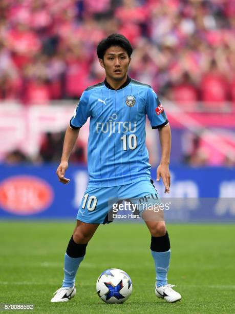 Ryota Oshima of Kawasaki Frontale in action during the JLeague Levain Cup final match between Cerezo Osaka and Kawasaki Frontale at Saitama Stadium...