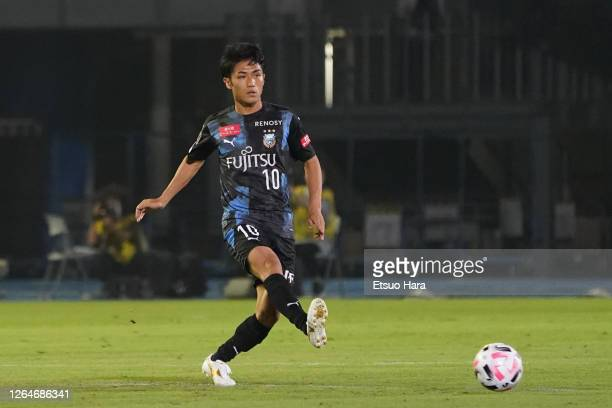 Ryota Oshima of Kawasaki Frontale in action during the J.League Meiji Yasuda J1 match between Kawasaki Frontale and Oita Trinita at the Todoroki...