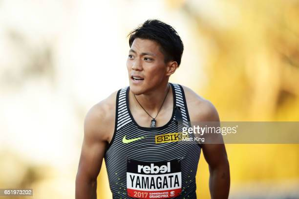 Ryota Yamagata of Japan looks on after winning the the Men's 100m A Final during the SUMMERofATHS Grand Prix on March 11 2017 in Canberra Australia