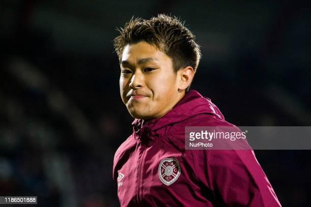 Ryotaro Meshino of Hearts during the Scottish Premier League match between Hearts and Livingston at Tynecastle park on 04 December, 2019 in...