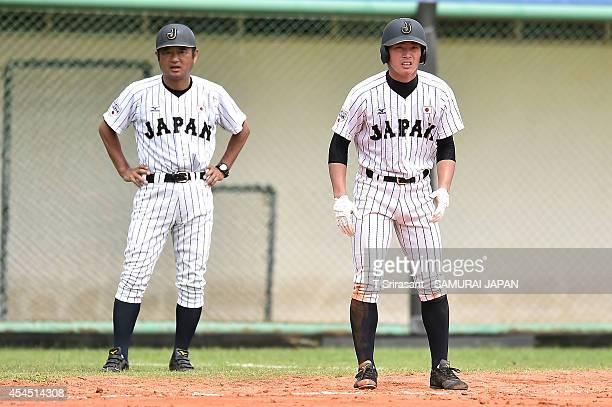 Ryoya Kurihara of Japan during the Asian 18U Baseball Championship preliminary game between Japan and Sri Lanka at Baseball Stadium of Queen Sirikit...