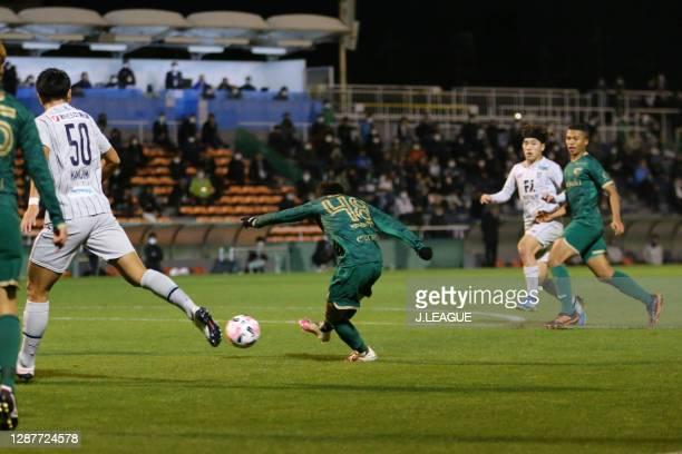 Ryoya YAMASHITA of Tokyo Verdy in action during the J.League Meiji Yasuda J2 match between Tokyo Verdy and Avispa Fukuoka at Ajinomoto Field...