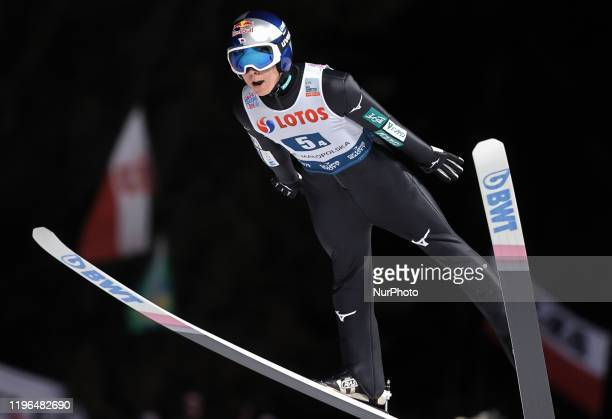 Ryoyu Kobayashi during team competition of the FIS Ski jumping World Cup in Zakopane on January 25 2020 in Zakopane Poland