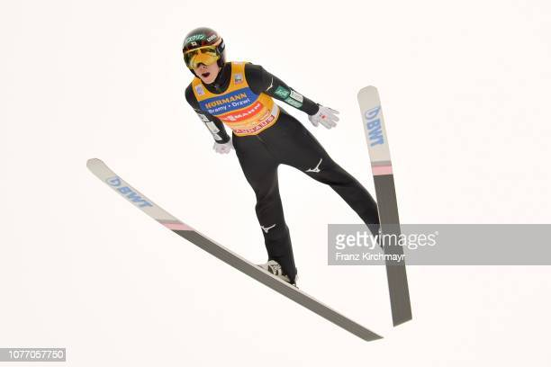 Ryoyu Kobayashi of Japan competes during the 67th FIS Nordic World Cup Four Hills Tournament ski jumping event at Bergisl Schanze on January 4 2019...