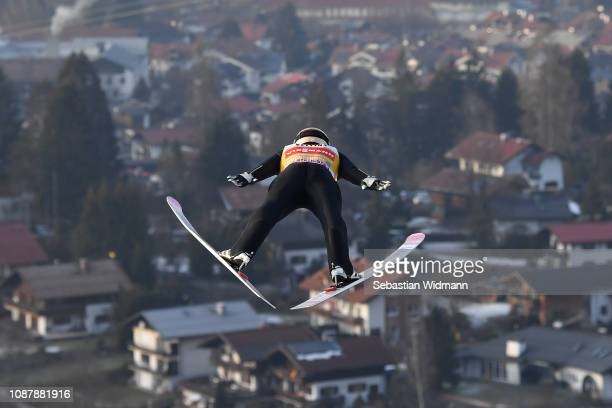 Ryoyu Kobayashi of Japan competes during the practice round for the Four Hills Tournament on December 29 2018 in Oberstdorf Germany