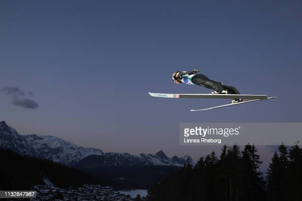 Ryoyu Kobayashi of Japan competes in the Men's Nordic HS 109 Qualification Ski Jumping Competition at the 2019 FIS Nordic World Ski Championships at...