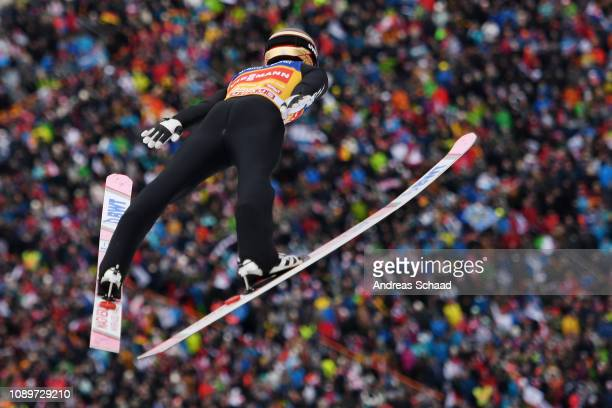 Ryoyu Kobayashi of Japan competes on day 6 of the 67th FIS Nordic World Cup Four Hills Tournament ski jumping event on January 04 2019 in Innsbruck...