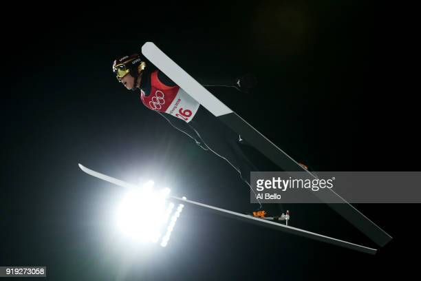 Ryoyu Kobayashi of Japan makes a jump during the Ski Jumping Men's Large Hill on day eight of the PyeongChang 2018 Winter Olympic Games at Alpensia...