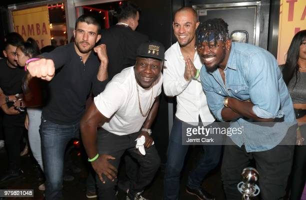 Ryron Gracie Tamba Hali Rener Gracie and guest attend Tamba Hali EP Release Party at Murano on June 19 2018 in West Hollywood California