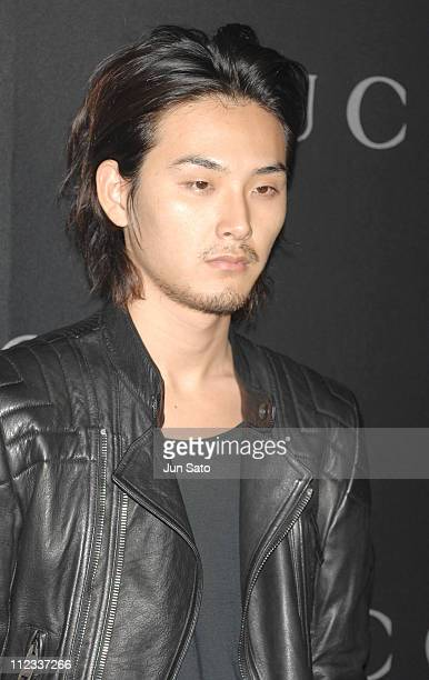 Ryuhei Matsuda during GUCCI Ginza Flagship Store Opening Reception Party Arrivals at Tokyo Port Terminal in Tokyo Japan