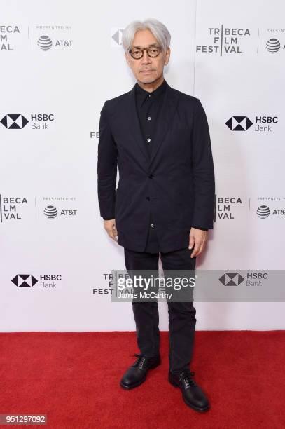 "Ryuichi Sakamoto attends the screening of ""Ryuichi Sakamoto: Coda"" during the 2018 Tribeca Film Festival at Cinepolis Chelsea on April 25, 2018 in..."