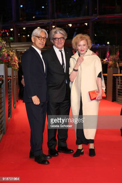 Ryuichi Sakamoto Chema Prado and Marisa Paredes attend the Opening Ceremony 'Isle of Dogs' premiere during the 68th Berlinale International Film...