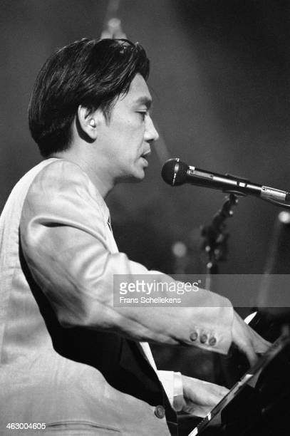 Ryuichi Sakamoto, keyboards, performs at Carre on 26th March 1990 in Amsterdam, the Netherlands.