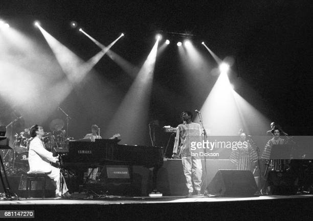 Ryuichi Sakamoto performing on stage at Dominion Theatre, London, 24 March 1990.