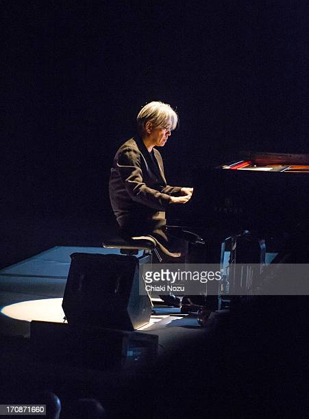 Ryuichi Sakamoto performs at the Royal Festival Hall on June 19 2013 in London England
