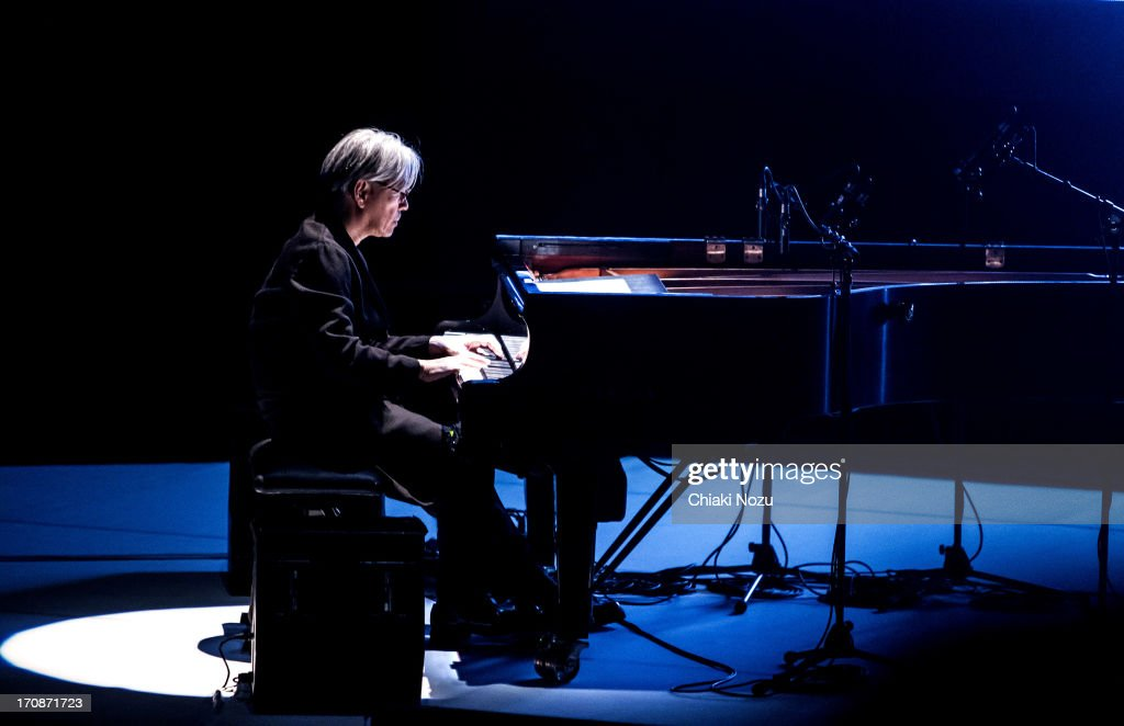 Alva Noto & Ryuichi Sakamoto Perform At The Royal Festival Hall