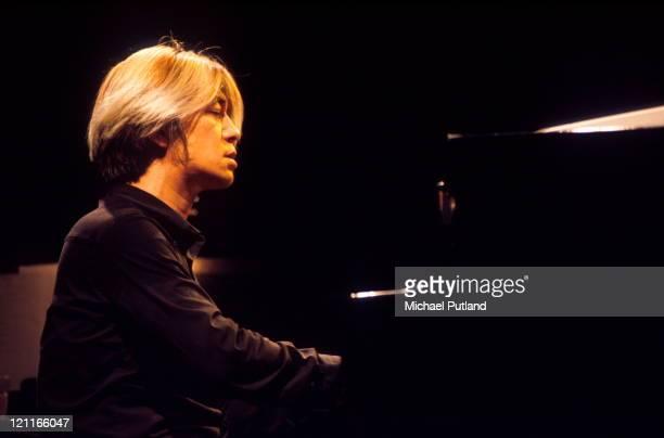 Ryuichi Sakamoto performs on stage Royal Festival Hall London 26th July 1996