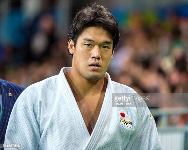 Ryunosuke Haga of Japan leaves the mat after defeating Jevgenijs Borodavko of Latvia on his way to the u100kg final during day 6 of the 2016 Rio...