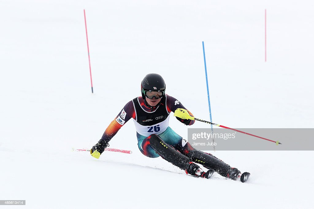 Ryunosuke Ohkoshi of Japan competes in the Alpine Slalom - FIS Australia New Zealand Cup during the Winter Games NZ at Coronet Peak on August 29, 2015 in Queenstown, New Zealand.