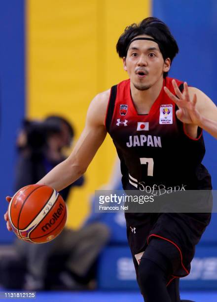Ryusei Shinoyama of Japan in action during the FIBA World Cup Asian Qualifier match between Qatar and Japan on February 24 2019 in Doha Qatar