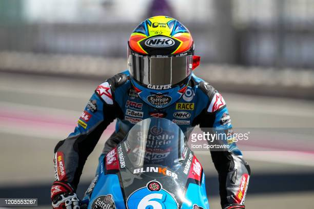 Ryusei Yamanaka of Estrella Galicia 0.0 in action during Fridays free practice session of QNB Qatar Motorcycle Grand Prix held on March 06 at Local...