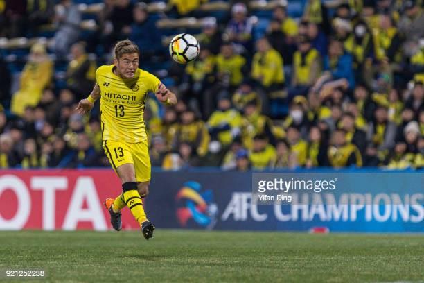 Ryuta Koike of Kashiwa Reysol in action during the AFC Champions League match between Kasshiwa Reysol and Tianjin Quanjian at Sankyo Frontier Kashiwa...