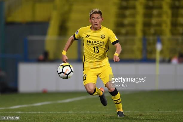 Ryuta Koike of Kashiwa Reysol in action during the AFC Champions League match between Kashiwa Reysol and Tianjin Quanjian at Sankyo Frontier Kashiwa...