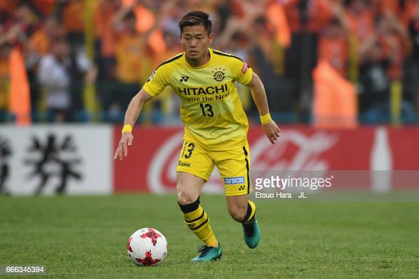 Ryuta Koike of Kashiwa Reysol in action during the JLeague J1 match between Kashiwa Reysol and Shimizu SPulse at Hitachi Kashiwa Soccer Stadium on...