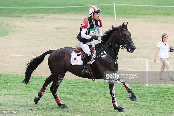 Ryuzo KITAJIMA . JUST CHOCOLATE during the Cross Country Event on Day 3 on Olympic Games 2016 at Olympic Equestrian Centre on August 9, 2016 in Rio...