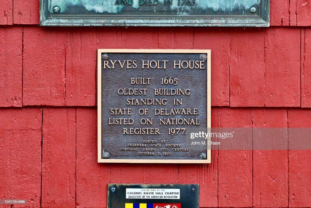Casa de Ryves Holt, o edifício mais antigo em Delaware : Foto de stock