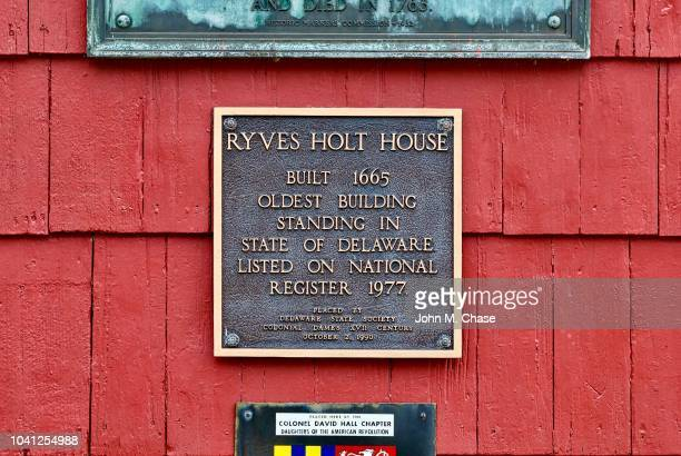 ryves holt house, the oldest building in delaware - bronze medalist stock pictures, royalty-free photos & images