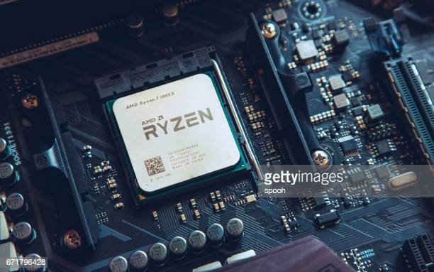 amd ryzen 1800x processor - cpu stock pictures, royalty-free photos & images