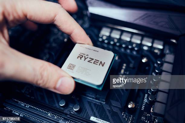 amd ryzen cpu - cpu stock pictures, royalty-free photos & images