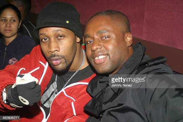 Rza and Claude Grunitzky of Trace Magazine during Rza and Trace Magazine Host Kill Bill Vol 2 Private Screening at Tribeca Screening Room in New York...
