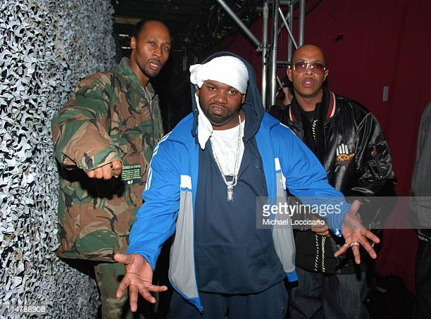 Rza Raekwon and Ugod of WuTang Clan during 2006 VH1 Hip Hop Honors Backstage and Audience at Hammerstein Ballroom in New York City New York United...
