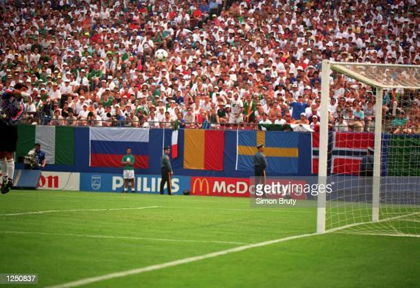 S 1-0 VICTORY OVER ITALY IN THE 1994 WORLD CUP GAME AT THE MEADOWLANDS+ GIANTS STADIUM IN EAST RUTHERFORD, NEW JERSEY. Mandatory Credit: Simon...