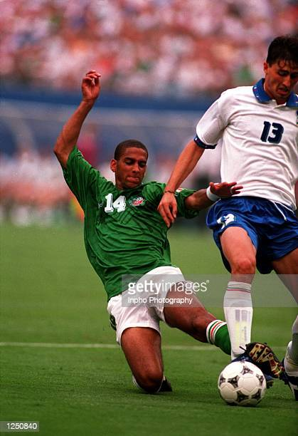 S 1-0 VICTORY OVER ITALY IN THE 1994 WORLD CUP GAME AT THE MEADOWLANDS+ GIANTS STADIUM IN EAST RUTHERFORD, NEW JERSEY. Mandatory Credit: Billy...