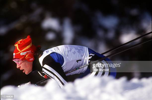WOMEN's 10K PURSUIT CROSS COUNTRY AT THE 1994 LILLEHAMMER WINTER OLYMPICS EGOROVA TAKES THE GOLD Mandatory Credit Clive Brunskill/ALLSPORT