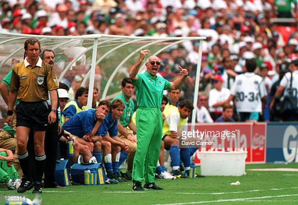 ITALY's 11 DRAW WITH MEXICO IN A 1994 WORLD CUP GAME AT RFK STADIUM IN WASHINGTON DC Mandatory Credit David Cannon/ALLSPORT