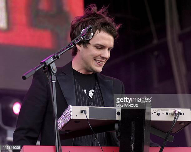 KROQ's 2004 Inland Invasion Tour in San Bernardino United States on September 18 2004 The Killers' perform at KROQ's 2004 Inland Invasion Tour at the...