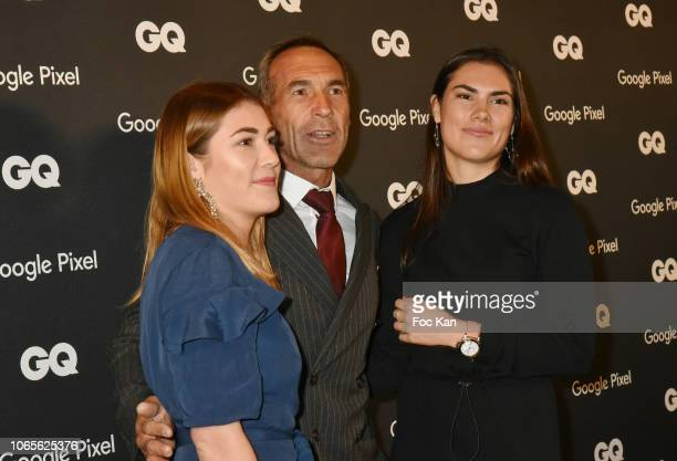 GQ's 2018 Explorer of The Decade Mike Horn and daughters Jessica Horn and Annika Horn attend GQ Men Of The Year Awards 2018 at Centre Pompidou on...