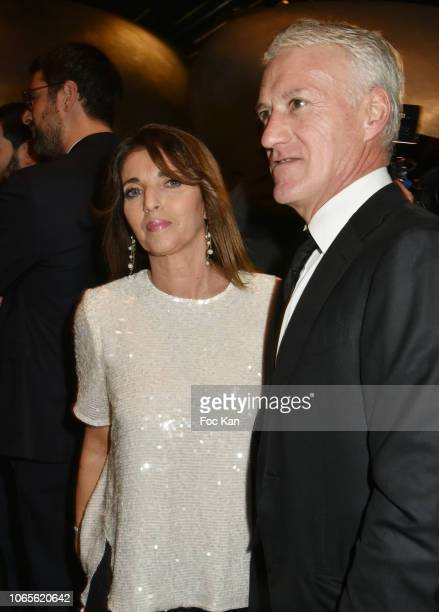 GQ's 2018 Manager of The Decade Didier Deschamps and his wife Claude Deschamps attend GQ Men Of The Year Awards 2018 at Centre Pompidou on November...