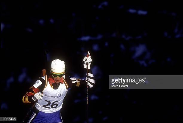MEN's 20K BIATHLON AT THE 1994 LILLEHAMMER WINTER OLYMPICS TARASOV TAKES THE GOLD Mandatory Credit Mike Powell/ALLSPORT