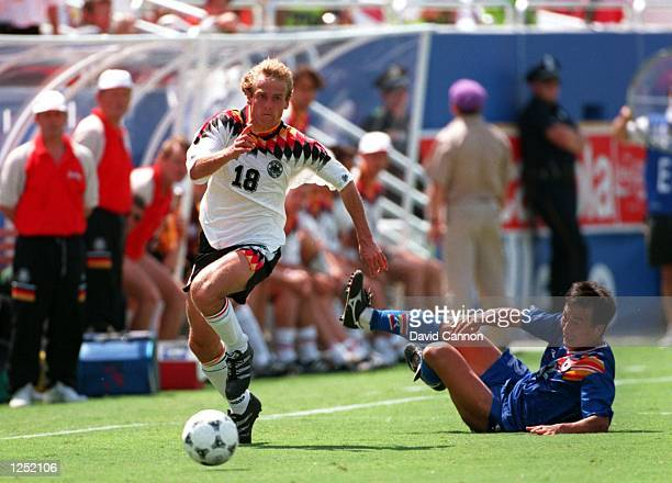 GERMANY's 32 VICTORY OVER SOUTH KOREA IN A 1994 WORLD CUP MATCH AT THE COTTON BOWL IN DALLAS TEXAS Mandatory Credit David Cannon/ALLSPORT