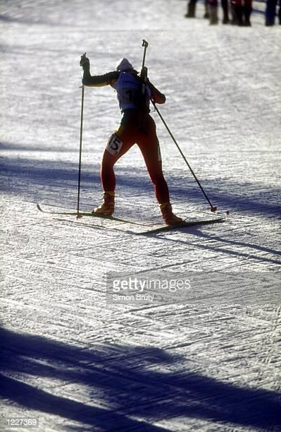 WOMEN's 4X75 KM BIATHLON AT THE 1994 LILLEHAMMER WINTER OLYMPICS Mandatory Credit Simon Bruty/ALLSPORT