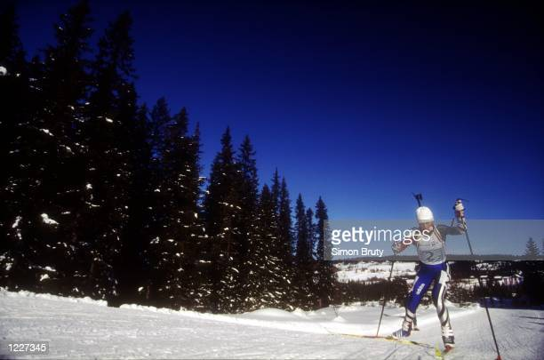 WOMEN's 4X75KM BIATHLON RELAY AT THE 1994 LILLEHAMMER WINTER OLYMPICS RUSSIA TAKES THE GOLD Mandatory Credit Simon Bruty/ALLSPORT